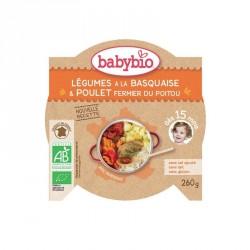 Babybio Assiette Légumes à la Basquaise & Poulet fermier du Poitou 260g