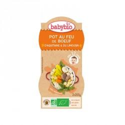Babybio Bols Pot au feu Boeuf d'Aquitaine & Limousin 200g x2