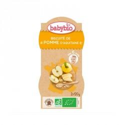 Babybio Bols Biscuité de Pomme, Pêche & Abricot du Roussillon 120g x2