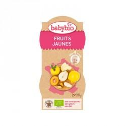 Babybio Bols Fruits Jaunes 120g x2