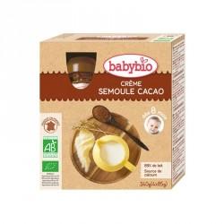 Babybio Gourdes Crème Semoule Cacao 90g x4