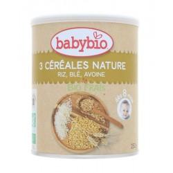 Babybio 3 Céréales Nature 250g