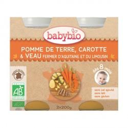 Babybio Pomme de terre Tomate Champignon Veau 2 x 200g