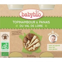 Babybio Petits Pots Topinambour Panais 8 mois+ 200 g x2