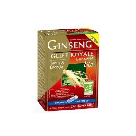 Super diet ginseng gelée royale guarana bio 60 gélules