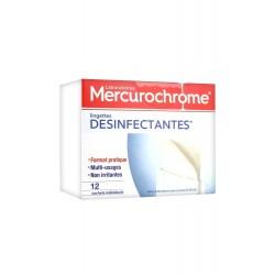 Mercurochrome Lingettes Désinfectantes 12 Sachets Individuels