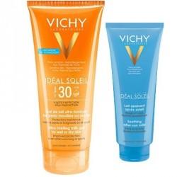 Vichy Idéal Soleil Gel de Lait Ultra-Fondant SPF 30 200 ml + Lait Apaisant Après-Soleil 100 ml Offert