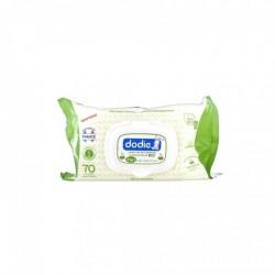 Dodie Lingettes Nettoyantes 3 En 1 A L'huile D'olive Bio X70