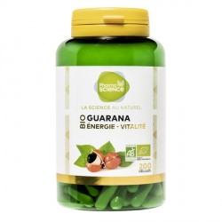 Pharmascience guarana bio 200 gélules