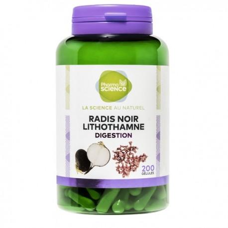 Pharmascience radis noir lithothamne 200 gélules