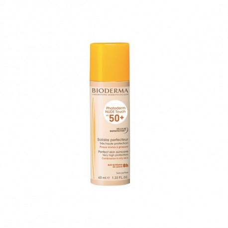Bioderma photoderm nude touch spf50+ teinte claire 40ml