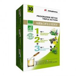 Arkopharma programme détox triple action boîte de 30 ampoules
