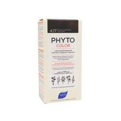 Phyto color Kit de coloration permanente 4.77 châtain marron profond