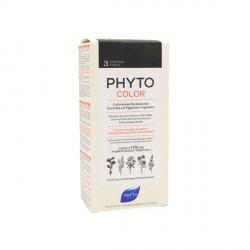 Phyto color Kit de coloration permanente 3 châtain foncé