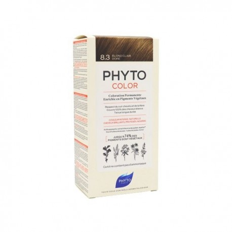 Phyto color Kit de coloration permanente 8.3 blond clair doré