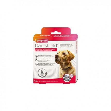 Beaphar Canishield grand chien collier anti puces x2