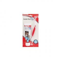 Beaphar pack dentifrice et brosse à dent