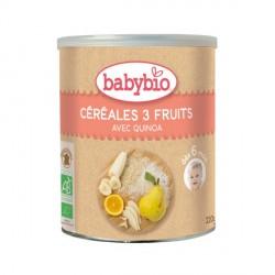Babybio poudre céréales 3 fruits 220g