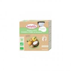 Babybio 4 gourdes lait coco pomme poire 340g