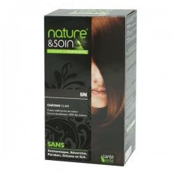 Santé verte nature & soin coloration 5N châtain clair santé verte129ml
