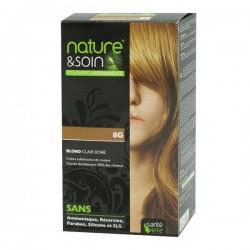Santé verte nature & soin coloration 8N 8G blond clair doré 129ml