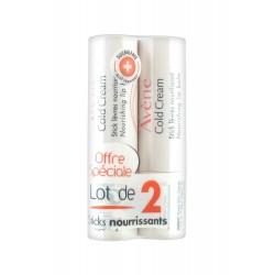 Avène cold cream stick lèvres nourrissant 2 x 4g
