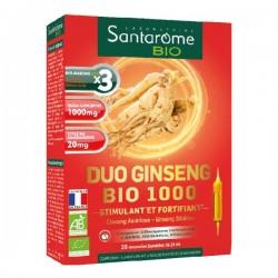 Santarome duo ginseng bio 1000 20 ampoules de 10ml