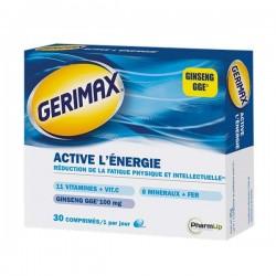 Gerimax activel'énergiecomplément alimentaire multivitaminés 30 comprimes