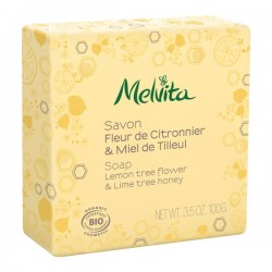 Melvita savon fleur de citronnier & miel de tilleul 100g