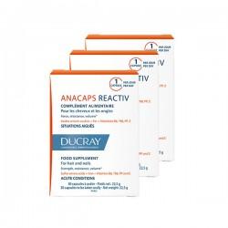 Ducray anacaps reactiv complément alimentaire 3 x 30 capsules