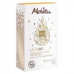 Melvita l'or bio savon aux 5 huiles précieuses 100g