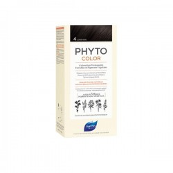 Phyto phytocolor coloration permanente 4 châtain 112ml