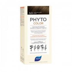 Phyto phytocolor coloration permanente 5.3 châtain clair 112ml