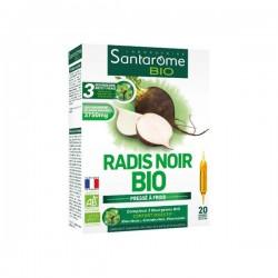 Santarome bio radis noir bio complément alimentaire 20 ampoules x 10ml
