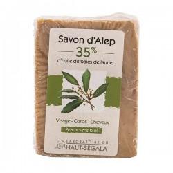 Haut-ségala savon d'alep 35% d'huile de baies de laurier 200g
