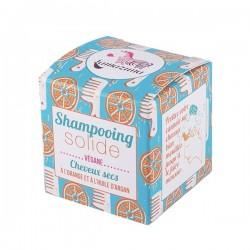 Lamazuna shampoing solide pour cheveux secs au parfum orange 55g