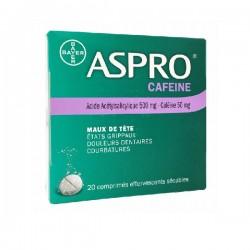 Aspro Accel comprimés effervescents 20 comprimés