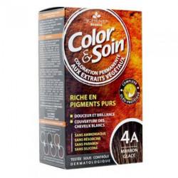 Les 3 chênes color & soin coloration châtain clair marron glacé 4A 135ml