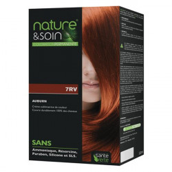 Santé verte nature & soin coloration permanente 7RV auburn 132ml