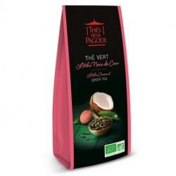 Thé de la Pagode Thé vert litchi noix de coco 100g