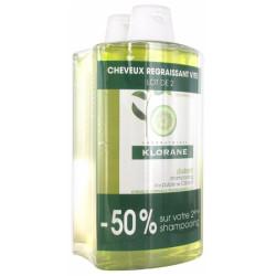 Klorane shmpoing à la pulpe de Cedrat 400ml*2