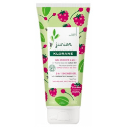 Klorane Junior Gel douche 2 en 1 à la Framboise 200ml