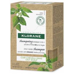 Klorane shampoing masque 2en1 à l'argile et à l'ortie 8 sachets