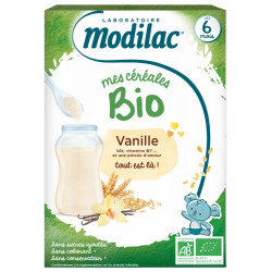 MODILAC NEW CEREALES BIO VANILLE 6 MOIS