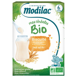 MODILAC NEW CEREALES BIO BISCUIT 6 MOIS