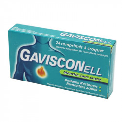Gavisconell menthe sans sucre 24 comprimés à croquer