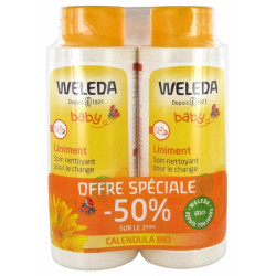 Weleda Bébé Liniment Calendula Lot de 2x400ml