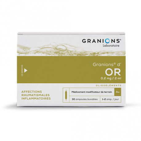 Granions Or 30 ampoules 2ml