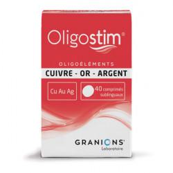 Granions oligostim cuivre or argent 40 comprimés