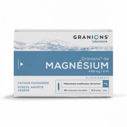 Granions magnésium 30 ampoules 2ml